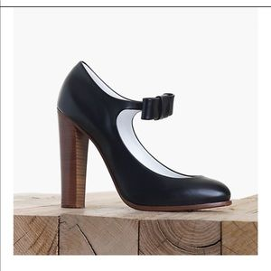 Celine round toe Mary Janes pumps leather calfskin