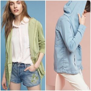 Anthropologie Woven Anorak Hoodie NWT
