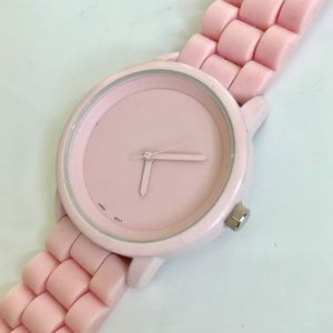 LF Pink Silicon Watch Brand New