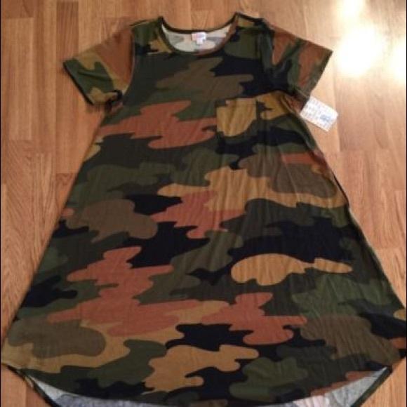 1a378f3f065e3 LuLaRoe Dresses | Nwt Htf Unicorn Camo Carly Swing Dress | Poshmark