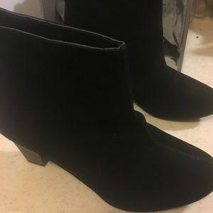 Black booties velvet like suede from Torrid new