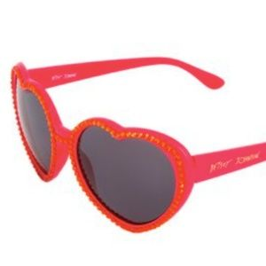 Betsey Johnson Red Heart Sunglasses