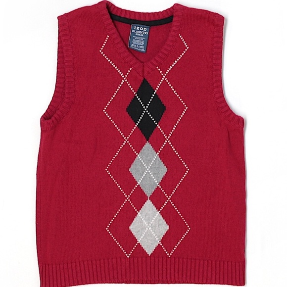 Izod - Boys 7X (XL) Izod Red Argyle Sweater Vest from Shannon's ...