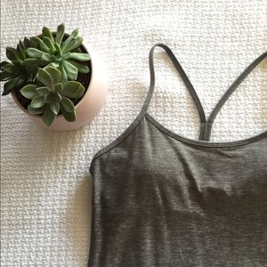 Lululemon Power Y Tank Heather Grey