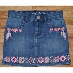 New BABY GAP Embroidered Southwest Jean Skirt