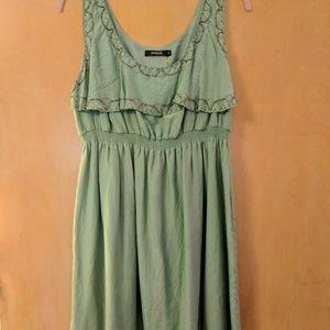 NWOT size L lovely, beaded, babydoll dress
