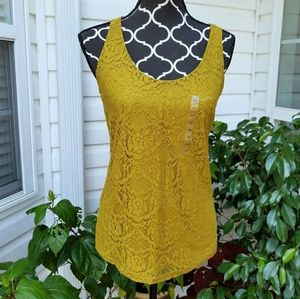 LOFT ANN TAYLOR Sleeveless Blouse Tank Lace