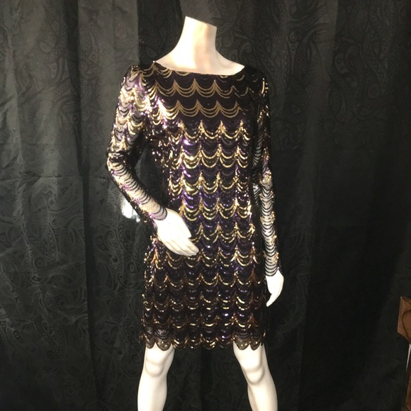 ef1f9d74a2 Charlotte Russe Dresses   Skirts - Scalloped Sequins Bodycon Dress