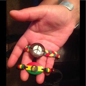 Jewelry - Bob Marley & Peace sign   ☮️ bracelets