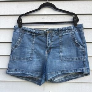 Faded Glory Plus Size 18 Med Wash Denim Jean Short