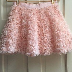"Forever 21 Pink ""rosette"" skirt with side zip"