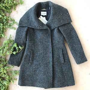 Cole Haan Signature Gray Wool Trench Coat