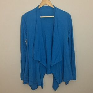 Ralph Lauren Silk / Cashmere Waterfall Cardigan