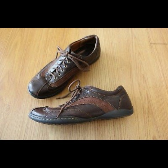 f2d3f4d64a8a Born Shoes - BORN 2-Tone Brown Leather Oxfords Casual Lace Up