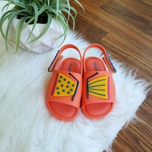 Mini Melissa Scented Sandals Buterfly and Caterpil