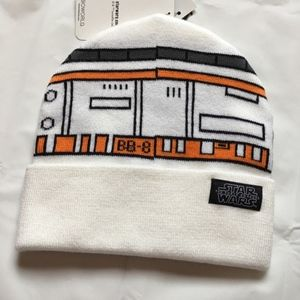 Star Wars Accessories - Star Wars Men s BB-8 White Winter Hat Beanie New 78a2b694f6b