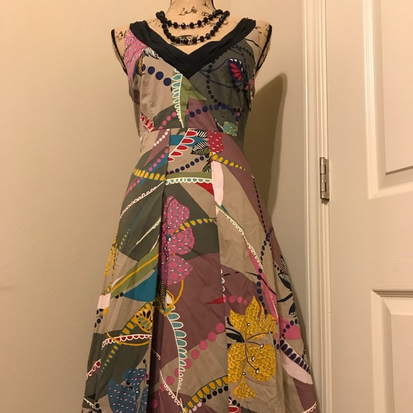 Anthropologie Dresses & Skirts - Anthropologie Maeve patterned dress size 8