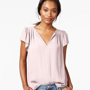 HP!! Flutter-Sleeve Woven Blush Pink Top