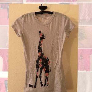 9d252b3a8fa30c tnt Shirts   Tops - 🎈Girls size small floral giraffe shirt Shirt