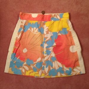 Junior size 11 skirt floral with back zipper