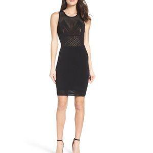 Ali & Jay  Lace Black Body-Con Dress