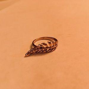 ❗️SALE❗️golden leaf ring
