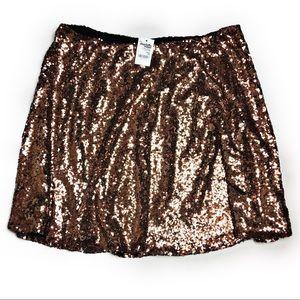 2e1c449a820 Charlotte Russe Skirts - Charlotte Russe Plus Size Sequin Skater Skirt