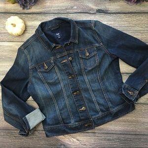 GAP Dark wash Denim Jean Jacket size Medium