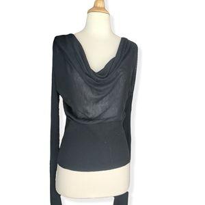 Black BCBG cowl neck sweater w long arms