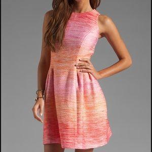 Shoshanna ombré pink Tweed dress cocktail 2 XS