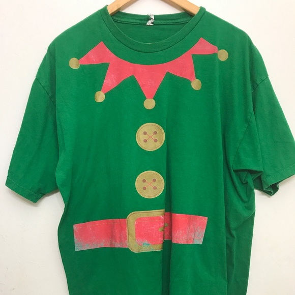 christmas elf large and tall distressed t shirt