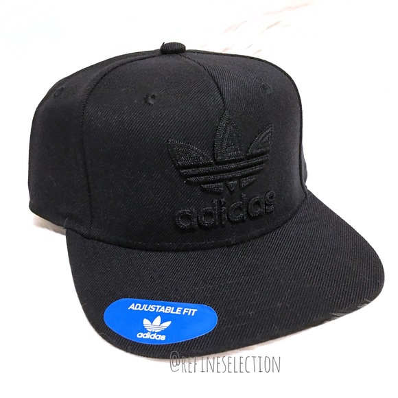 622709850898a Adidas Trefoil Chain Embroidered Snapback Hat Cap