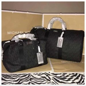 NWT MK JS Travel XL Duffle & Large Weekender