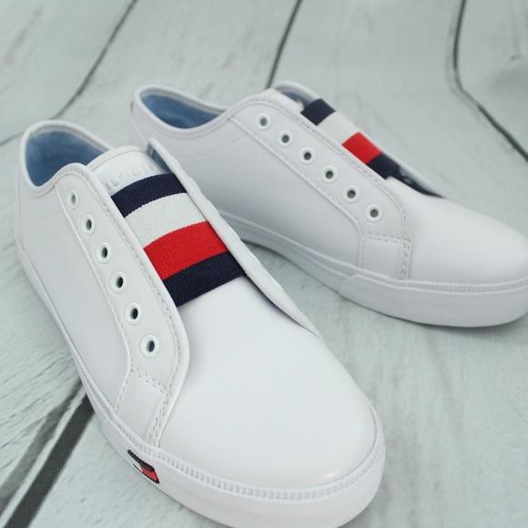 6edd3877a0796  Tommy Hilfiger  Anni White Slip On Sneaker. M 59e0201f9c6fcf268400b05e