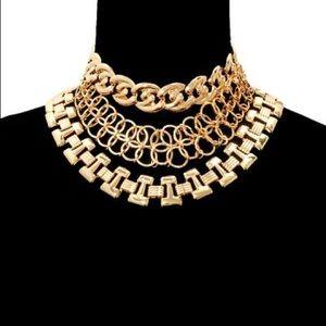 Jewelry - Three Layered Choker Necklace Set