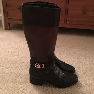 Michael Kors bryce talk boot size 9 Black/mocha