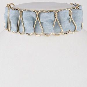Jewelry - Denim Ribbon Choker