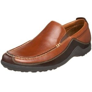 Cole Haan Brown Leather Tucker Venetian Loafers