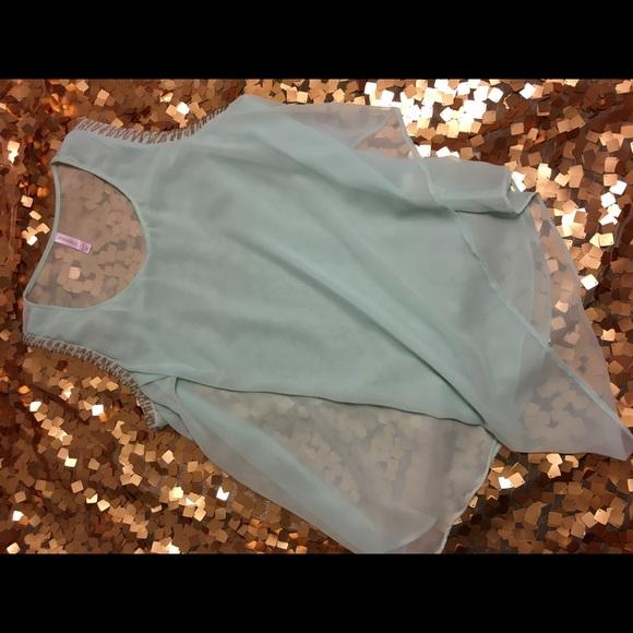 Xhilaration Tops - Tiffany blue shear blouse