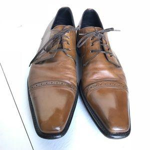 To Boot New York Adam Derrick Tan Oxford Shoes