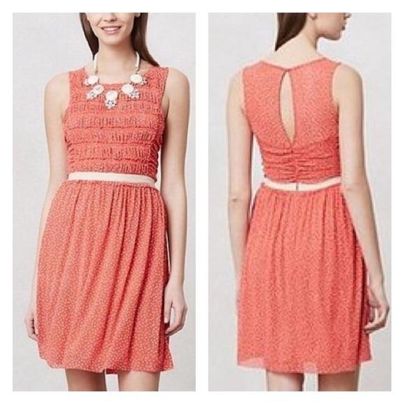 59a91364b79c Anthropologie Dresses & Skirts - Anthropologie Postmark Orange Swiss Dotted  Dress