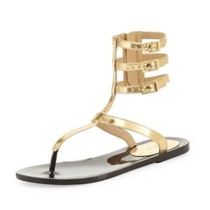 Rachel Zoe Gold Gladiators 7M