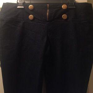 Dark blue jeans skinny