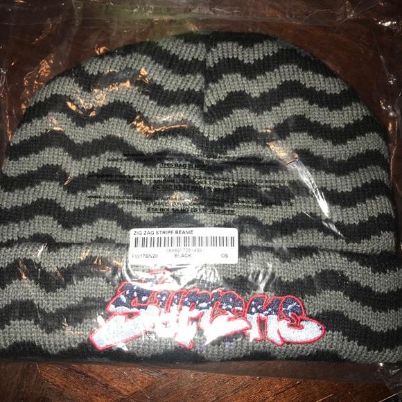 c797cbe84 Supreme zig zag striped beanie Boutique