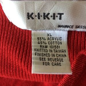 Kirit Sweaters - ⬇️33 Kikit Red Embroidered Sweater Twinset. Size L
