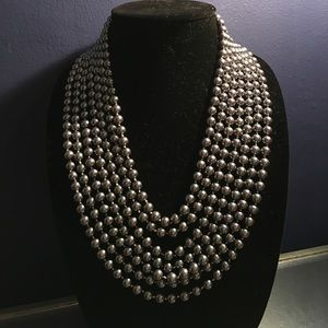 Jewelry - Was89⬇️7 strand gunmetal grey color pearl necklace