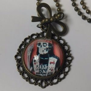 """Jewelry - 😺 SALE """"Death 2 All But Metal"""" Cabochon"""