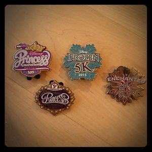 4 PINS BUNDLE! Disney Run Pins