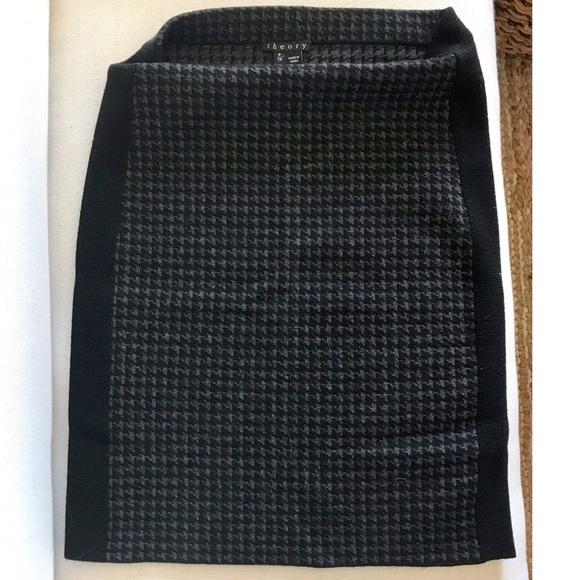Theory Skirts Houndstooth Pattern Wool Knit Skirt Poshmark