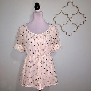 Style & Co metallic dot blouse